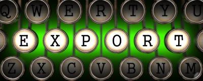 Exportation sur les clés de la vieille machine à écrire. Photographie stock