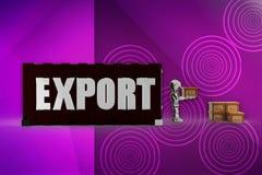 Exportillustration des Roboters 3d Stockfotografie