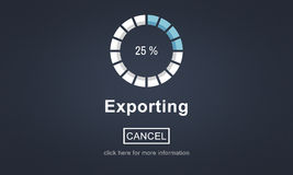 Exporting Convert Loading Progress Concept Royalty Free Stock Photography