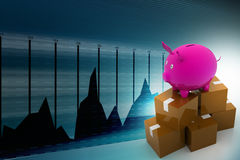 Exporting finance concept Royalty Free Stock Images