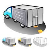Exports of goods Illustration. Product and Distribution System D Royalty Free Stock Photo