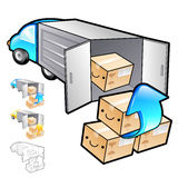 Exports of goods Illustration. Product and Distribution System D Stock Images