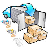 Exports of goods Illustration. Product and Distribution System D Royalty Free Stock Images