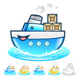 Exports of goods Illustration. Product and Distribution System D Royalty Free Stock Image