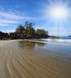 exposé niski piaska przypływ mokry zdjęcie royalty free