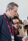 EXPOSANT 2014 DE MWC Photographie stock libre de droits