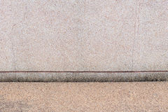 Exposed aggregate gravel wall and floor. Outdoor display background Stock Photography