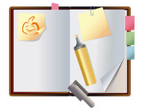 Exposed autumn notebook Royalty Free Stock Images