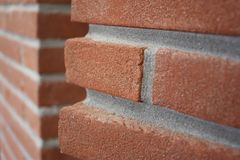 Exposed brickwork Stock Image