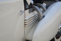 Exposed car exhaust pipes Stock Image