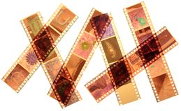 Exposed Color Negative Film Isolated Royalty Free Stock Images