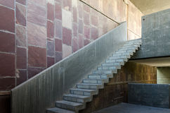 Exposed concrete staircase Royalty Free Stock Photography