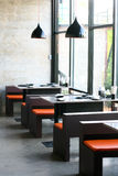 Exposed concrete style in restaurant Stock Photo