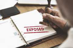 Exposed Disclosed Declarative Indicative Relating Concept Royalty Free Stock Image