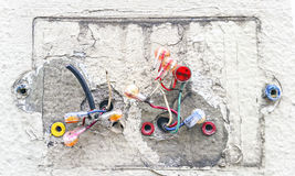 Exposed Electrical wires Royalty Free Stock Images