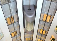 Exposed elevators Stock Images