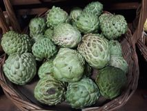 exposed fruit atemoia stock images