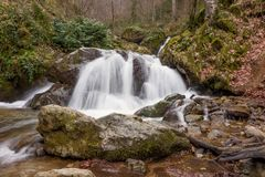 Waterfall in nature Stock Photography
