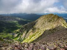 Free Exposed Narrow Mountain Ridge, Knife`s Edge, Katahdin Royalty Free Stock Image - 124073716