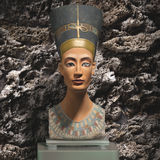 Exposed nefertiti bust 3d illustrated Stock Photo