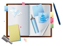 Exposed notebook Royalty Free Stock Photos