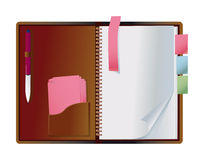 Exposed notebook Stock Photos