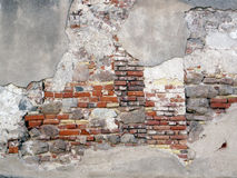 Exposed Old Brick Wall. Stock Photo