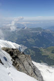 The exposed rocks of Jungfrau mountain looking towards north Royalty Free Stock Photography
