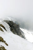 The exposed rocks of Jungfrau mountain looking towards north Royalty Free Stock Photos