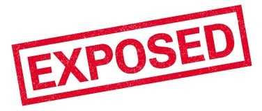Exposed rubber stamp Stock Photos
