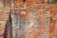 EXPOSED WALLS OF OLD FORT IN RUINS Royalty Free Stock Image