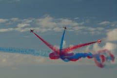 Exposição aerobatic de RAF Red Arrows em Southport 2016 Fotografia de Stock Royalty Free