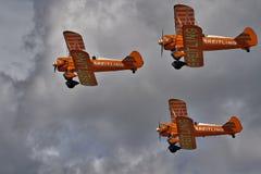 Exposição Aerobatic pelo Breitling Wingwalkers Foto de Stock