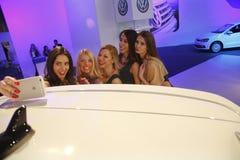 Exposição automóvel internacional em Belgrado Fotografia de Stock Royalty Free