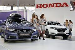 Exposição automóvel internacional em Belgrado Fotos de Stock Royalty Free