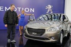 Exposição automóvel internacional em Belgrado Imagens de Stock