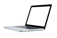 Exposição branca do isolamento do caderno do laptop Fotos de Stock