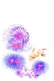 Exposição colorida bonita do fogo de artifício, ano novo feliz da celebração Imagens de Stock Royalty Free
