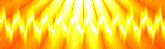 Exposição colorida da onda sadia do clube noturno da música, projeto gerado por computador ilustração stock