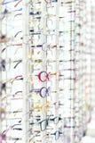 Exposição com modelos diferentes do desgaste do olho Imagem de Stock Royalty Free