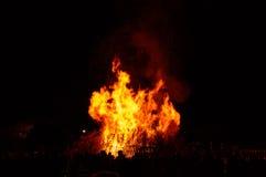 Exposição comercial da fogueira Fotos de Stock Royalty Free