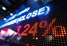 Exposição conservada em estoque do preço de mercado Imagem de Stock