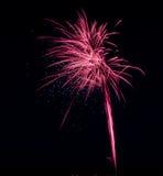 Exposição cor-de-rosa do fogo de artifício do brilho Foto de Stock Royalty Free