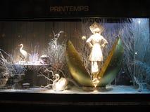 Exposição da alta-costura da janela do Natal fotografia de stock royalty free