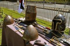 Exposição da armadura dos cavaleiros imagem de stock