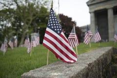 Exposição da bandeira americana Imagens de Stock