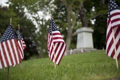 Exposição da bandeira americana para o feriado patriótico Imagens de Stock Royalty Free