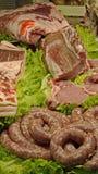 Exposição da carne Fotos de Stock