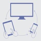 Exposição da demonstração de um telefone celular Foto de Stock