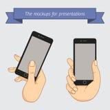 Exposição da demonstração de um telefone celular Fotos de Stock Royalty Free